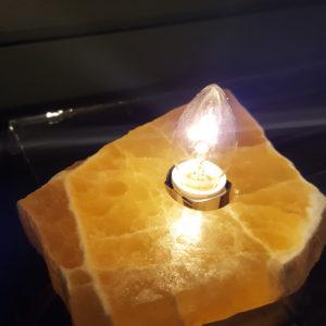Honeycomb Calcite Lighting